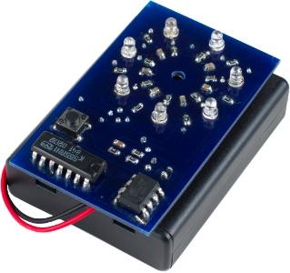 прототип электронного тортика на ATTiny85 со схемой задержки