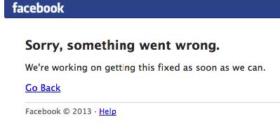 Facebook недоступен