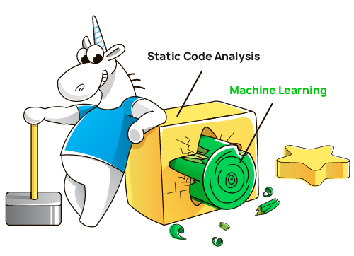Machine Learning in Static Analysis of Program Source Code