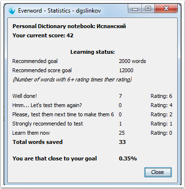 Everword-Statistics