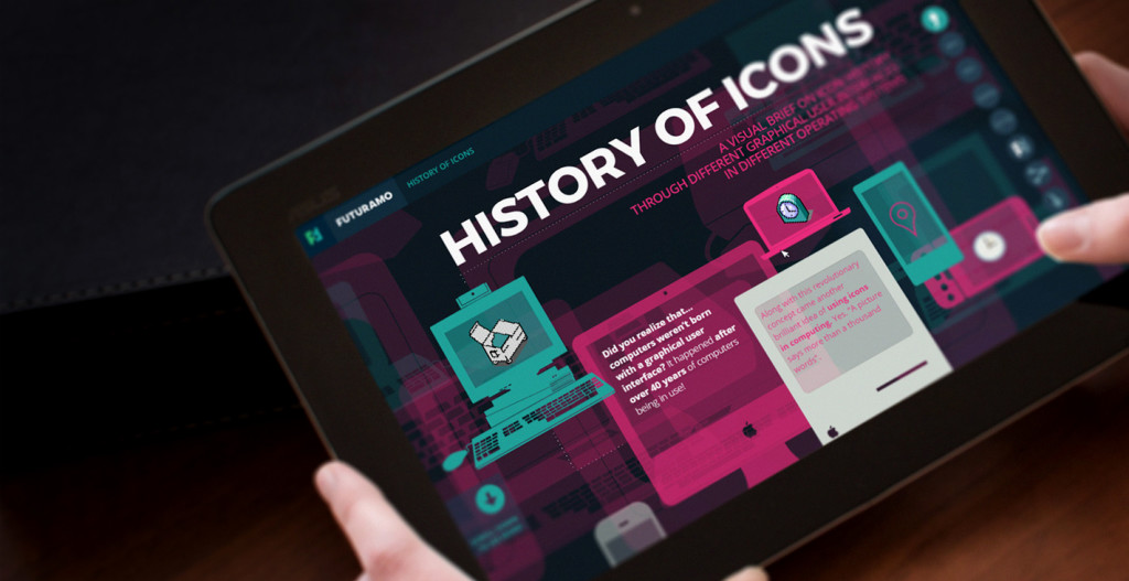 History of Icons — A visual brief icon on history by FUTURAMO