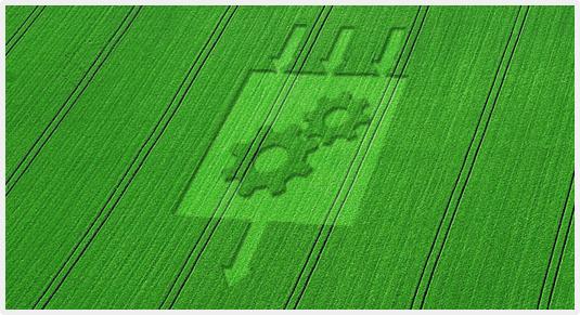 Логотип Bundle Transformer на сільськогосподарському полі