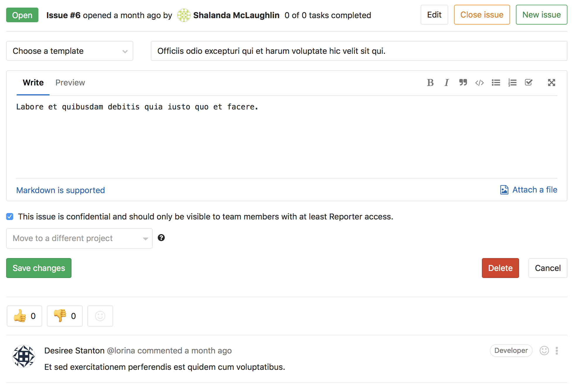 Edit Issue Description Inline, Without Losing Context
