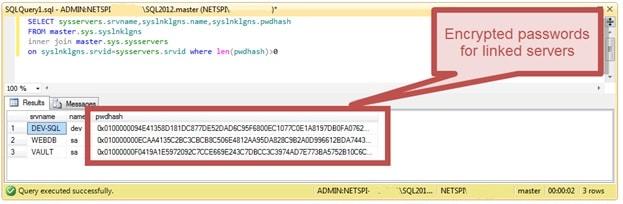 Расшифровка сохранённых паролей в MS SQL Server