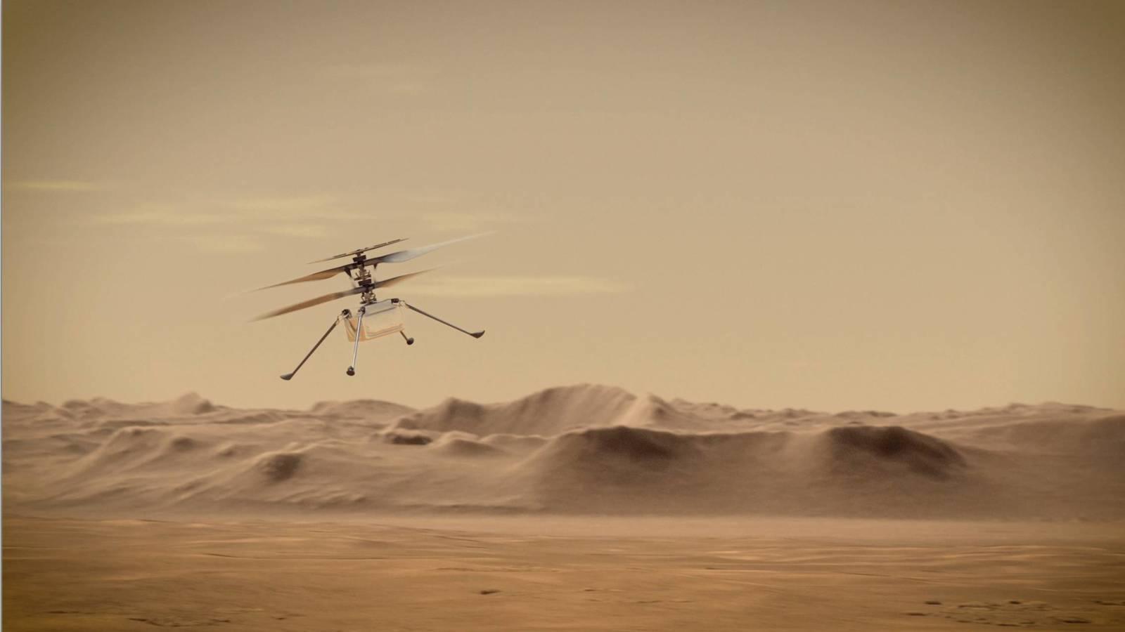 Марсолету Ingenuity продлили миссию  теперь он может летать до осени 2021 года