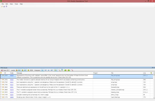 Рисунок 2 – Список диагностических сообщений после проверки i-файлов.