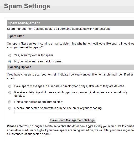Настройка анти-спама в vDeck