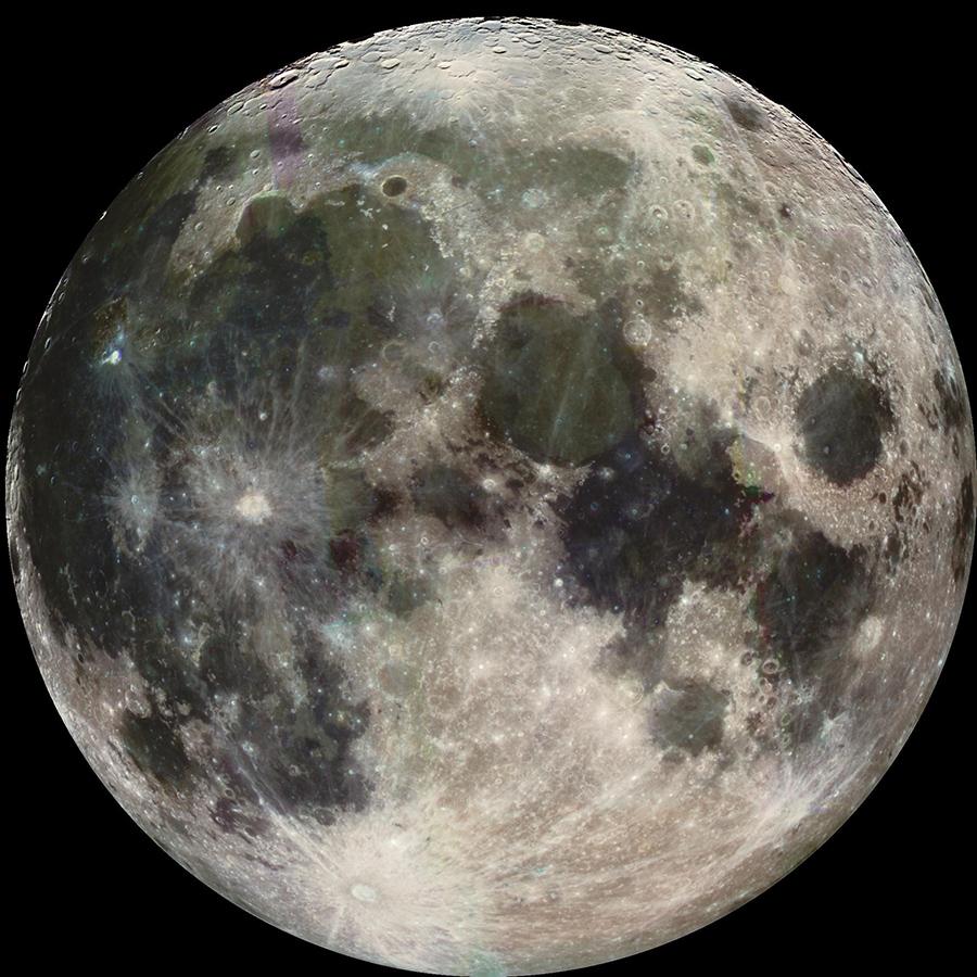 Луна какова цвета