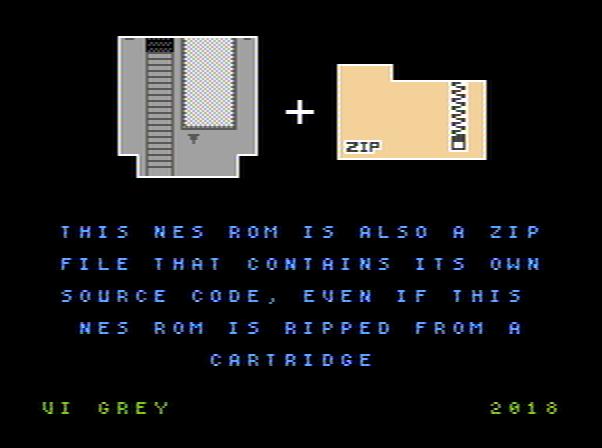 Файл-оборотень: образ картриджа NES и ZIP-файл в одном