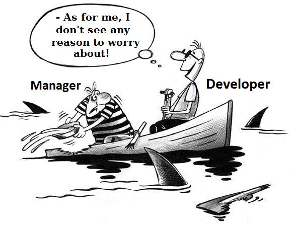 Рисунок 1. Программисты часто слишком оптимистичны, будучи уверенными, что всё прекрасно.