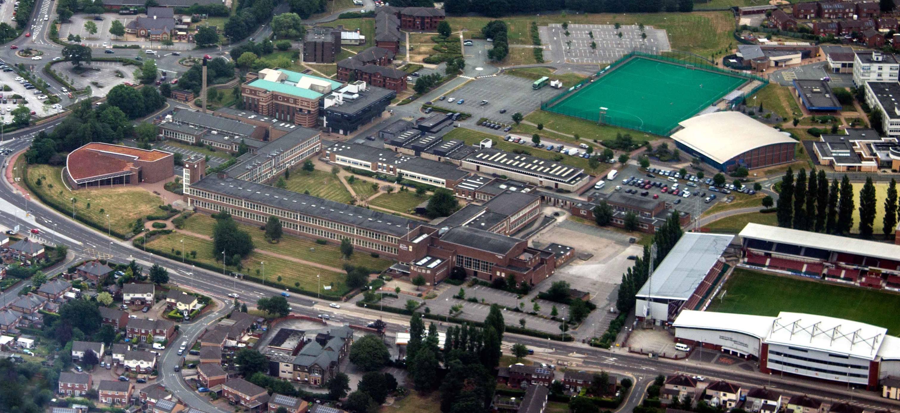 Съемка с воздуха территории университета