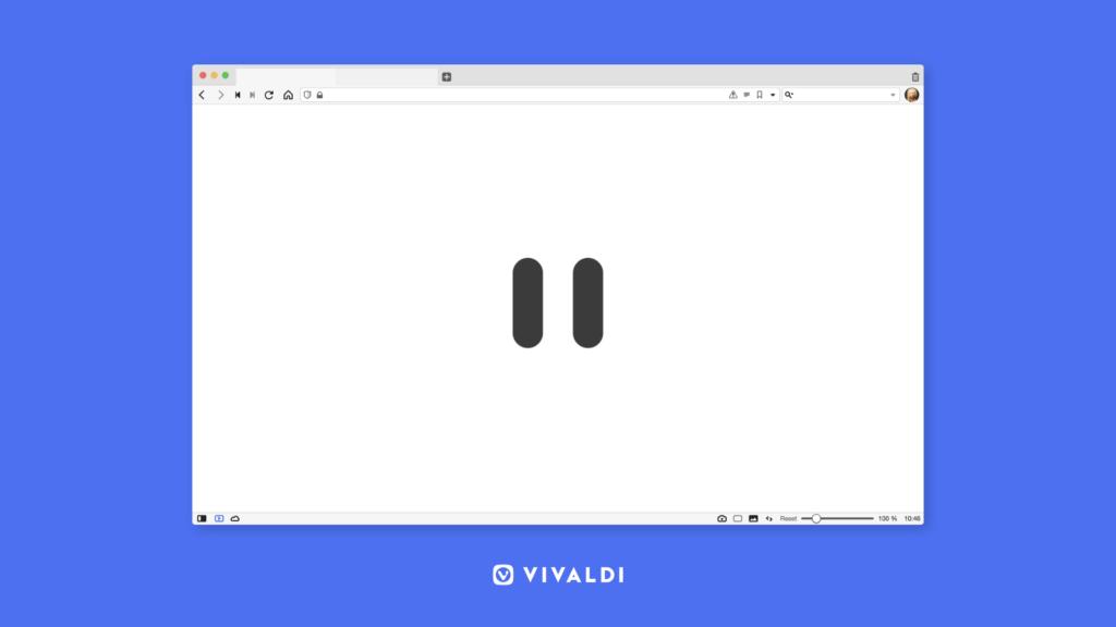 Vivaldi 3.3  Делаем передышку в работе