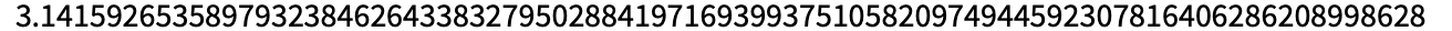 N[Pi, 85]