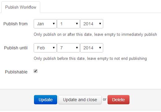 publish workflow