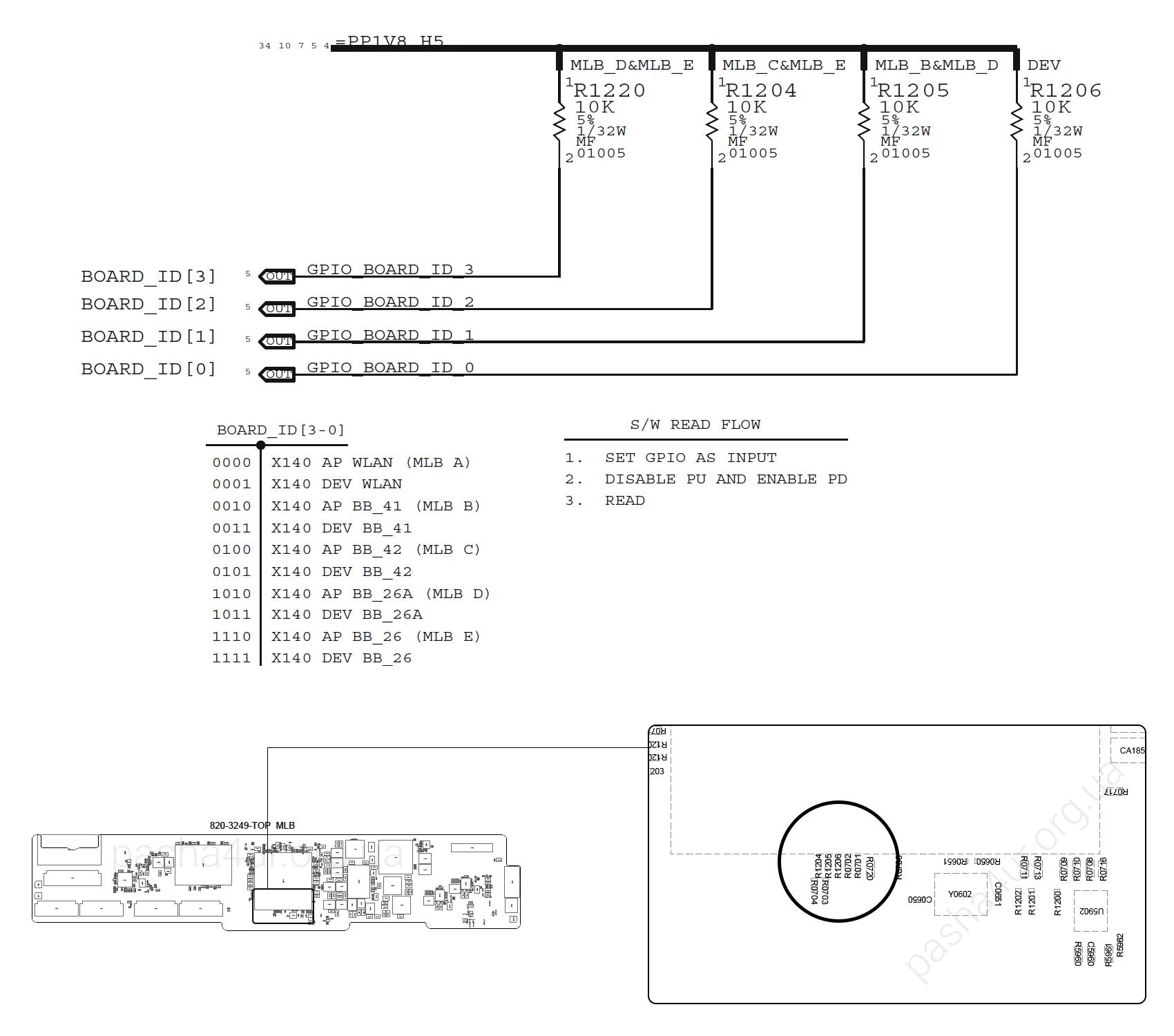 ipad mini схема зарядных цепей