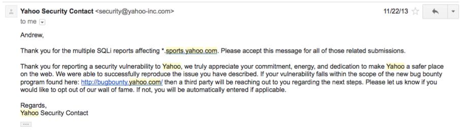 SQLi на *.sports.yahoo.com