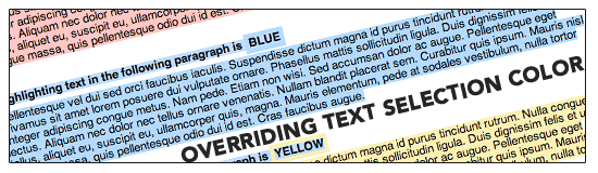 Text Selection Color