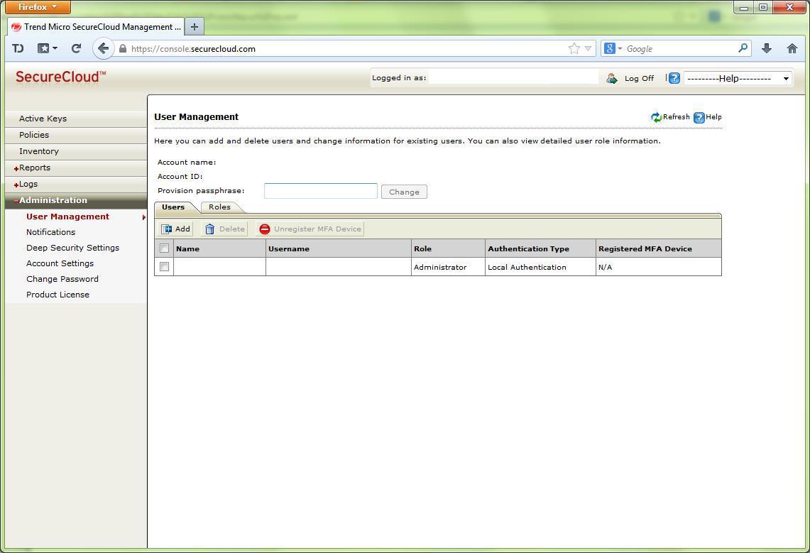 Создание учетных записей пользователей