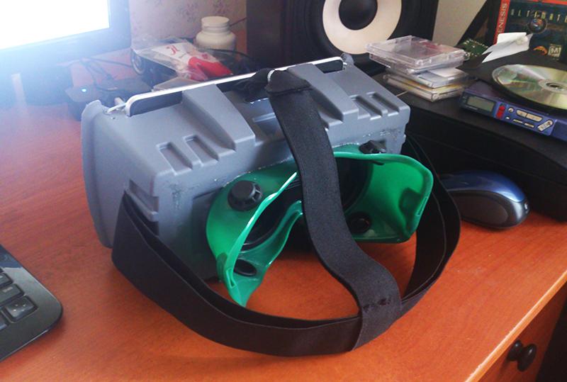 Nvidia GeForce + Nexus 7 + две лупы + коробка для инструментов = Virtual Reality шлем с широким углом обзора