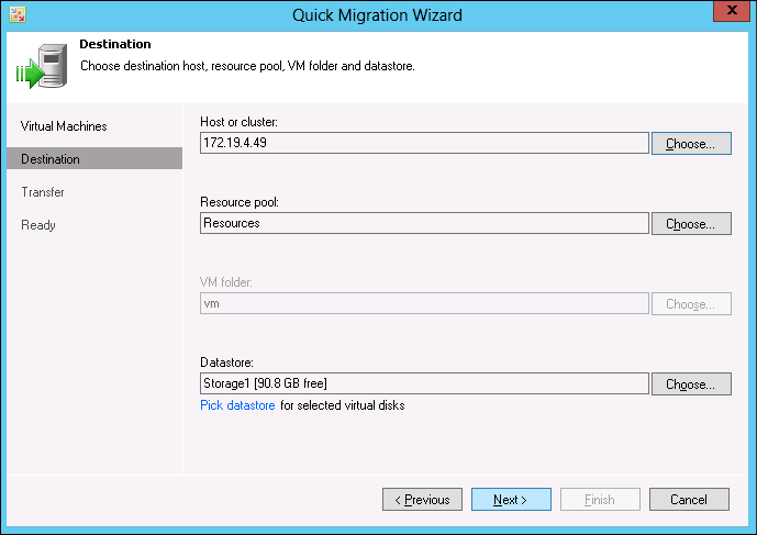Veeam Quick Migration