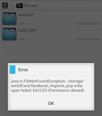 Блокировка свободной записи на SD в устройствах Android 4.4