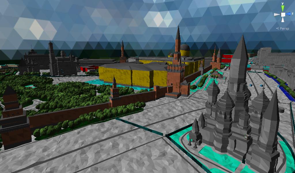 Визуализация данных OpenStreetMap в 3D налету с помощью Unity3D