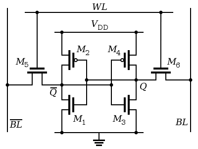 Схема шеститранзисторного