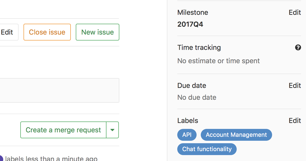 Merge Request Inherits Issue Milestone and Labels