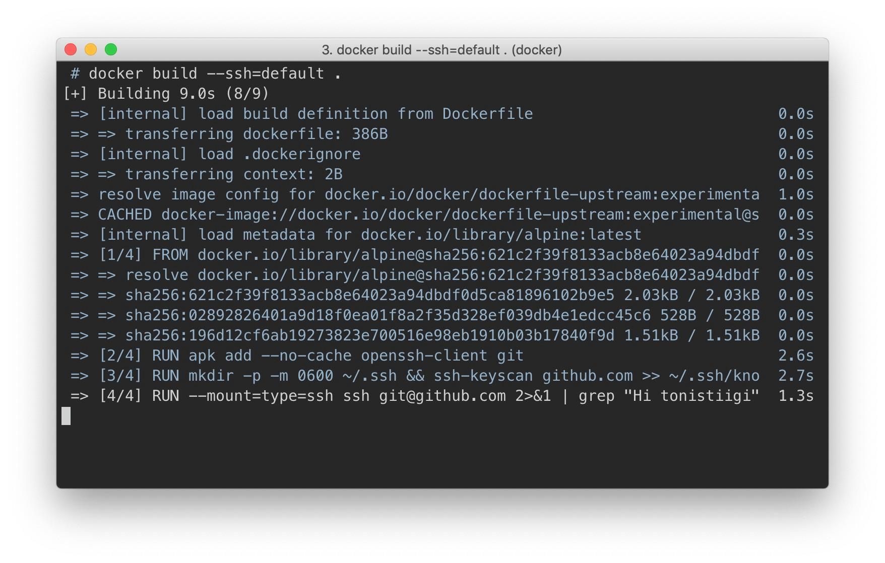Секреты сборки и пересылка SSH в Docker 18.09