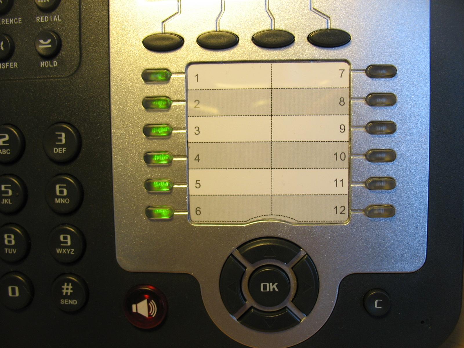 Работа BLF на телефоне.