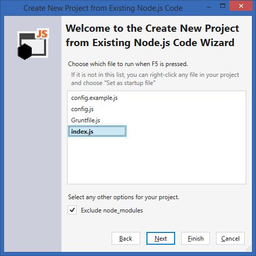 Создание проекта из существующего кода