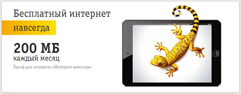 Бесплатный интернет для планшета от Билайн и МТС