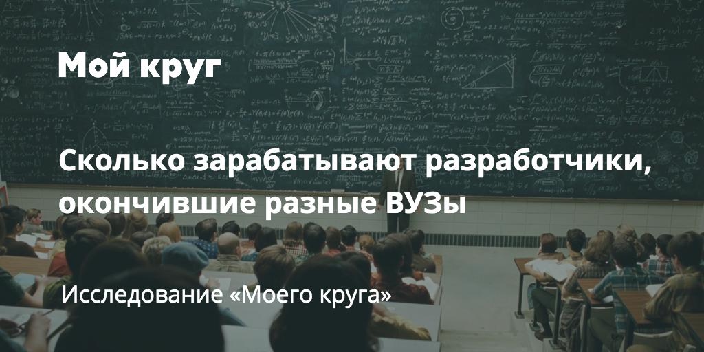 Сколько зарабатывают выпускники разных российских ВУЗов