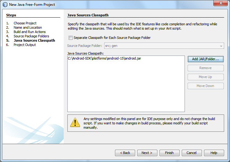 5. Java Sources Classpath