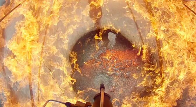 Видео испытаний системы автоматической ракетной посадки NASA