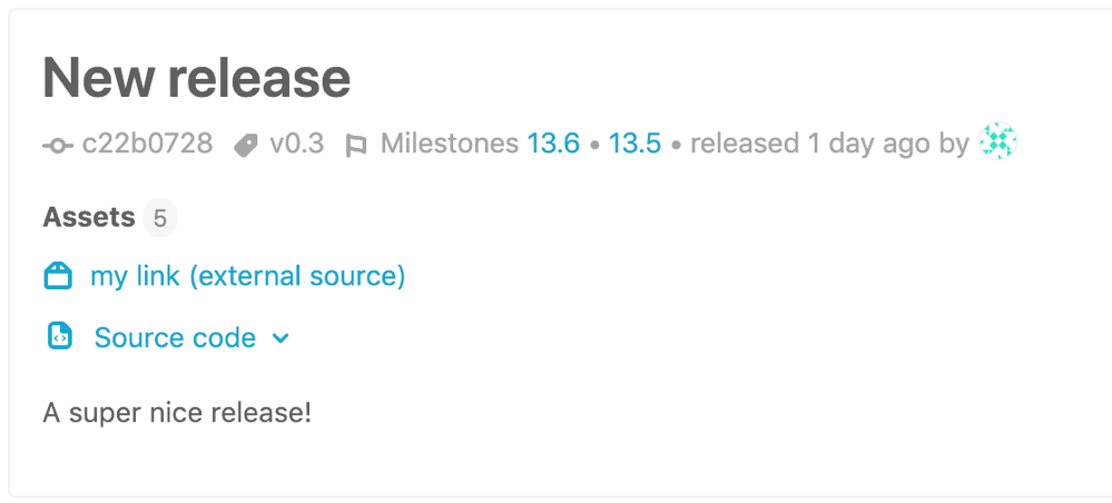 Associate milestones with a release