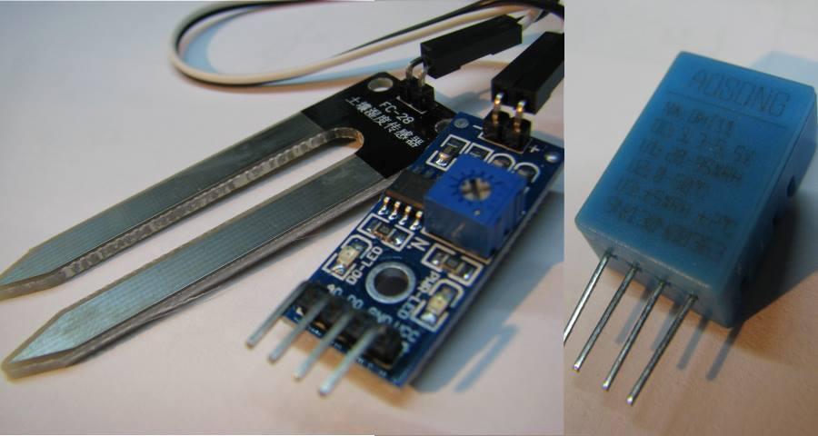Arduino контролирует в подвале температуру, влажность и затопление и выдает данные на веб-страницу