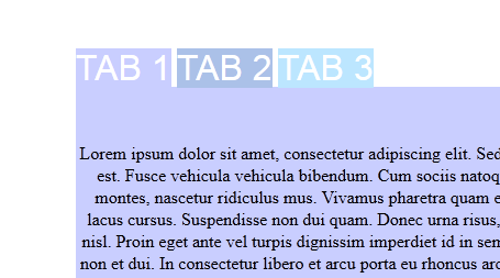 css tabs