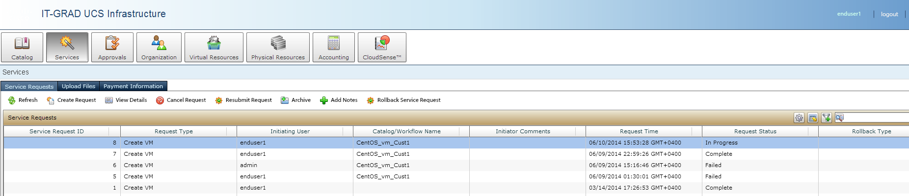 View status and query execution logs