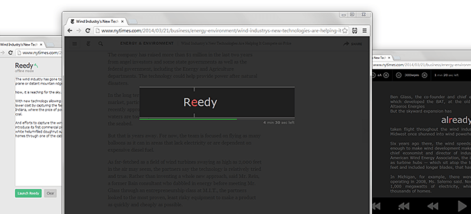 Reedy - An Advanced Implementation of Speed Reading Technology