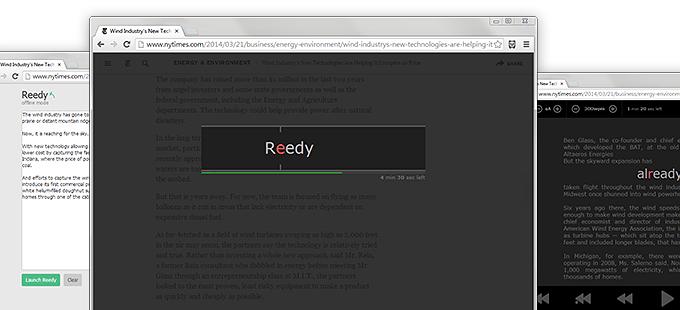 Reedy – продвинутая реализация технологии скоростного чтения