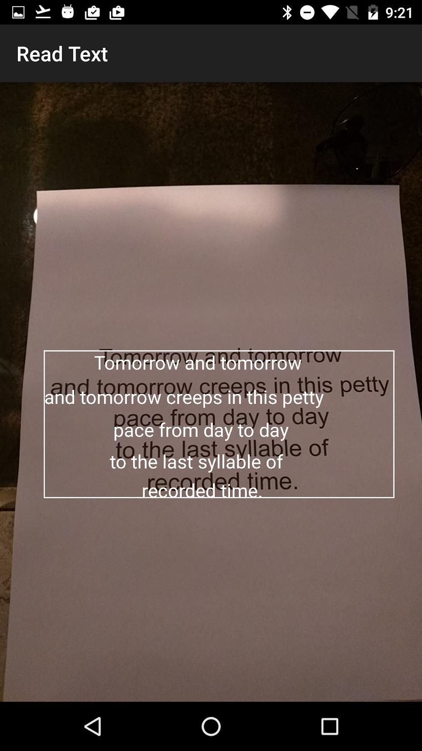 Создание Android приложения для распознавания текста за 10 Минут. Mobile Vision CodeLab