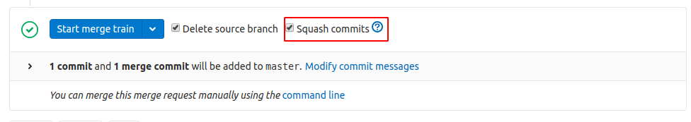 Maintain a consolidated commit history with squash-and-merge in Merge Trains