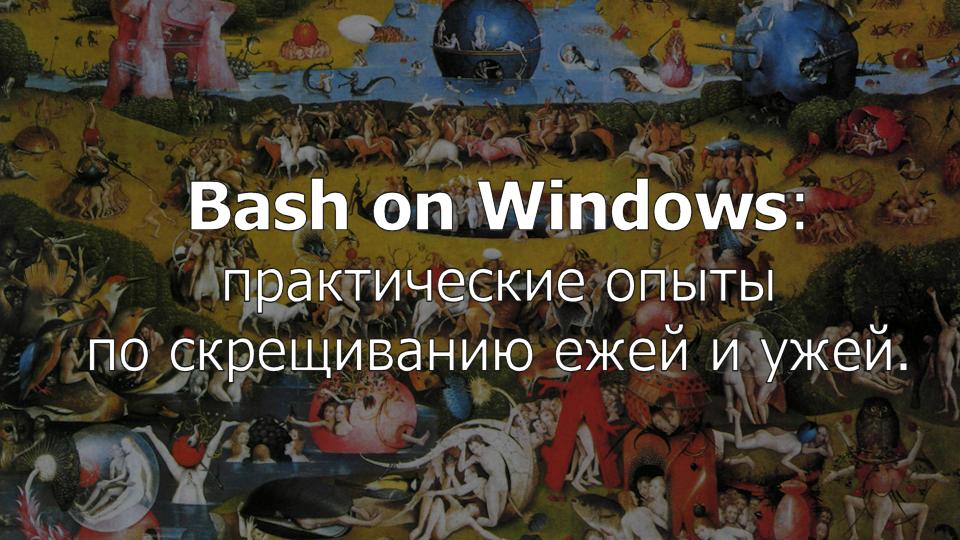 Bash on Windows: практические опыты по скрещиванию ежей и ужей