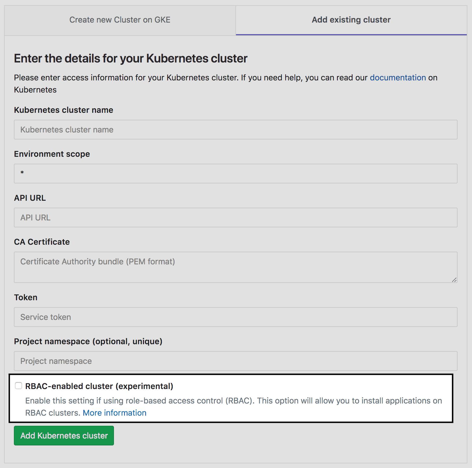 Support Kubernetes RBAC for GitLab managed apps