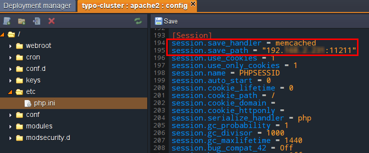 memcached session