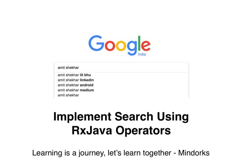 Реализация поиска с использованием RxJava