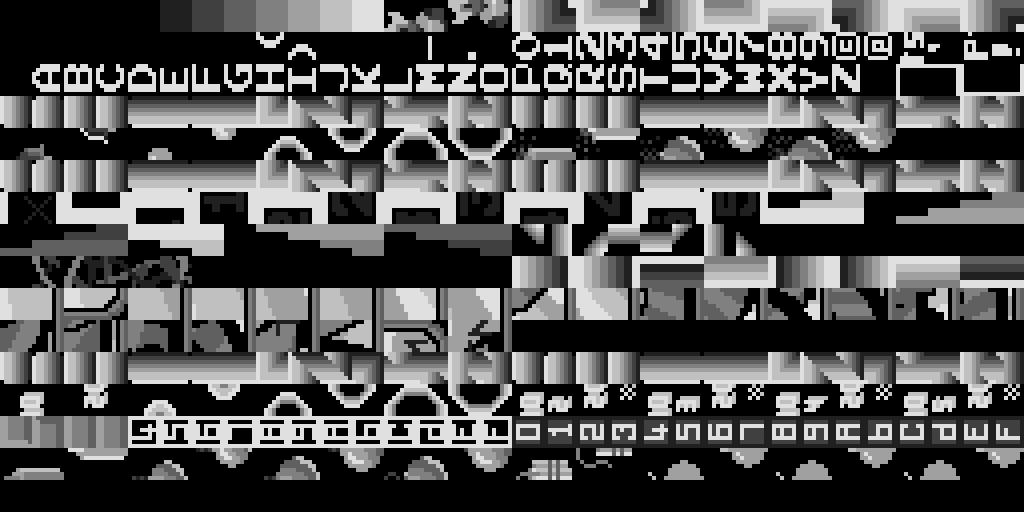 Bomb Jack Foreground Tile ROM