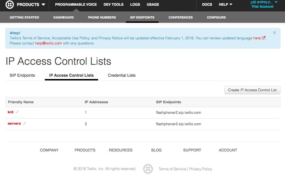 Сторінка зі списком IP адрес і користувачами