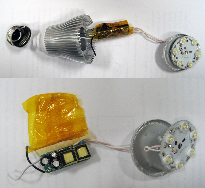 Лед лампа своими руками на 220в